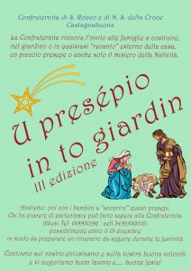 Presepio in to giardin