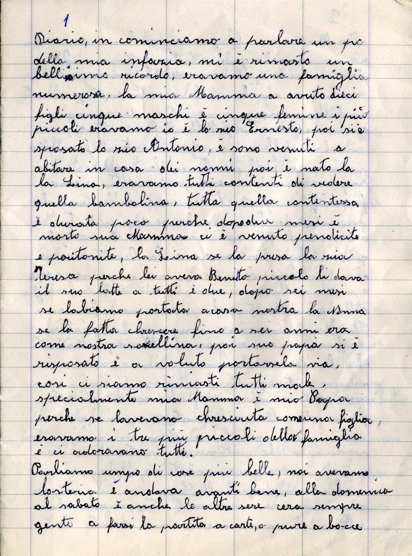 Quaderno nonna 2001