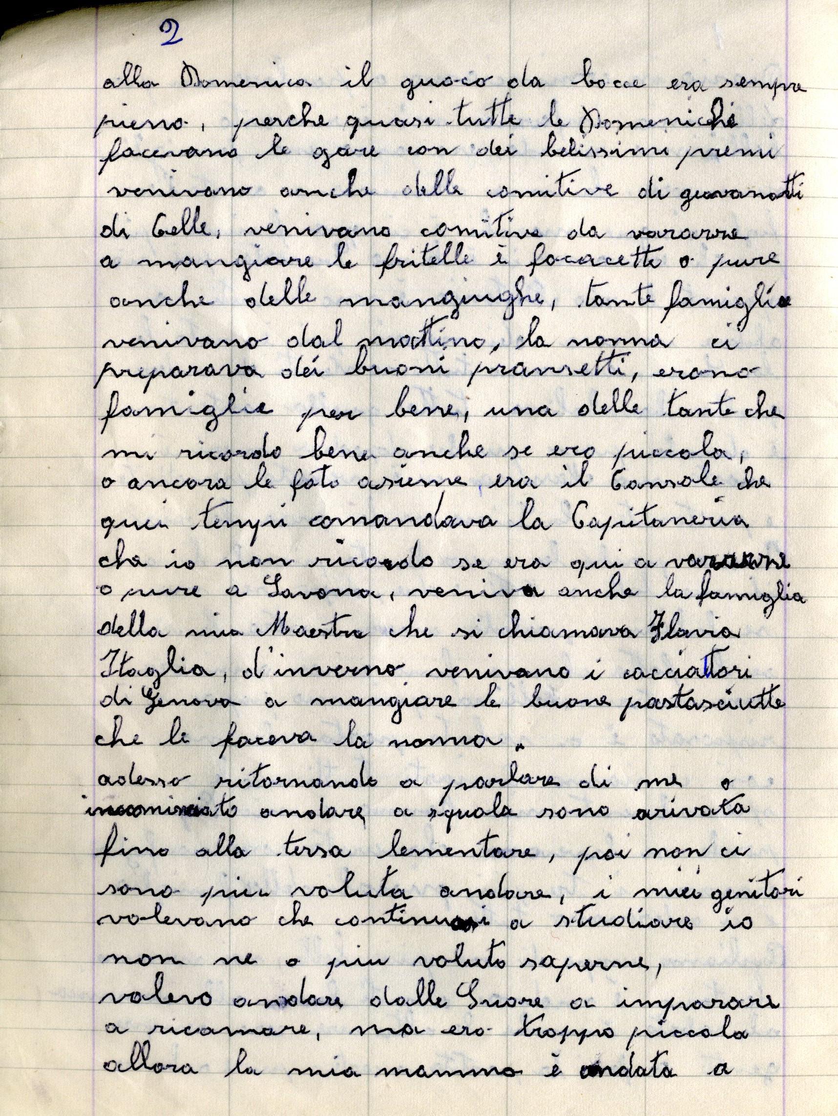 Quaderno nonna 2002