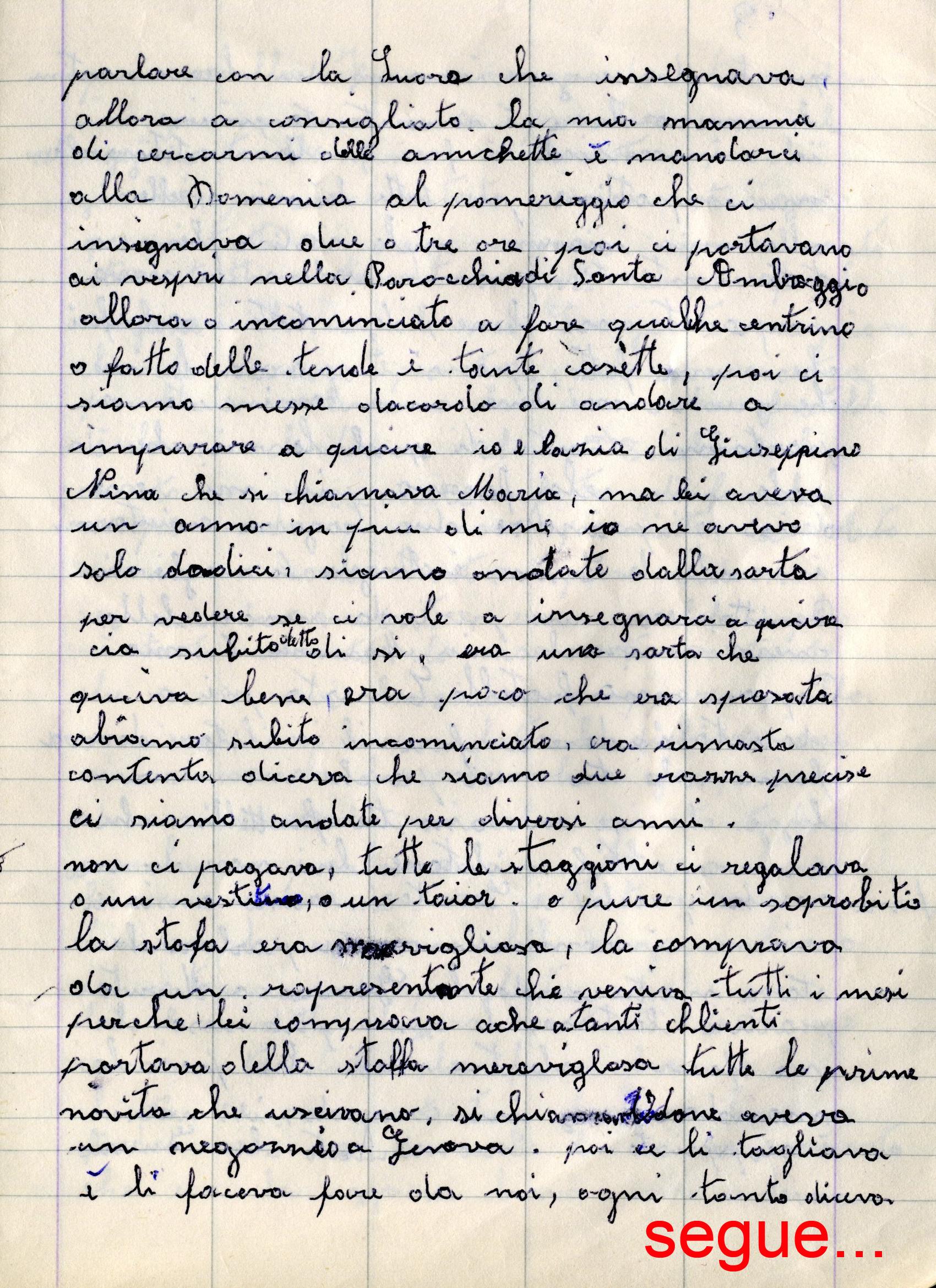 Quaderno nonna 2003